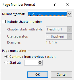 Word Insert Tab Header And Footer Page Number Format