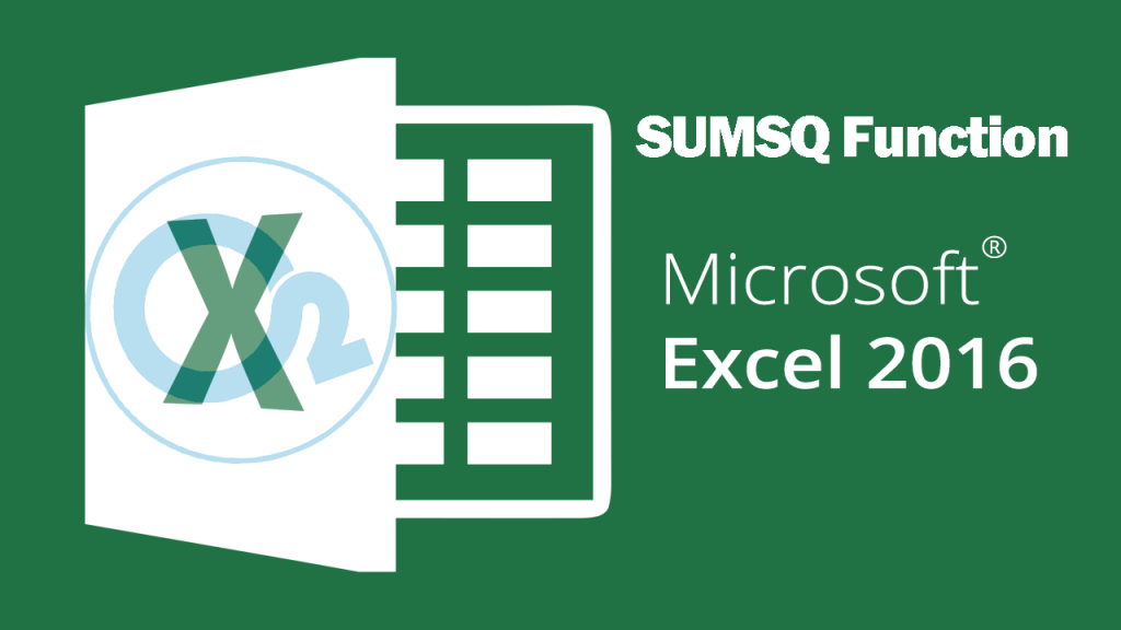 Sumsq Function On Excel
