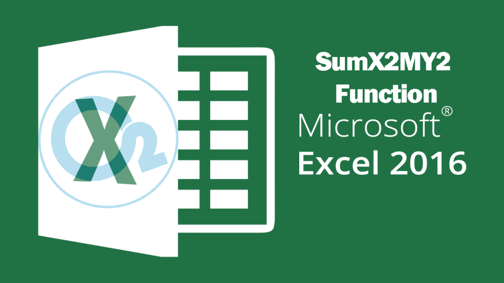 Sumx2my2 Function On Excel