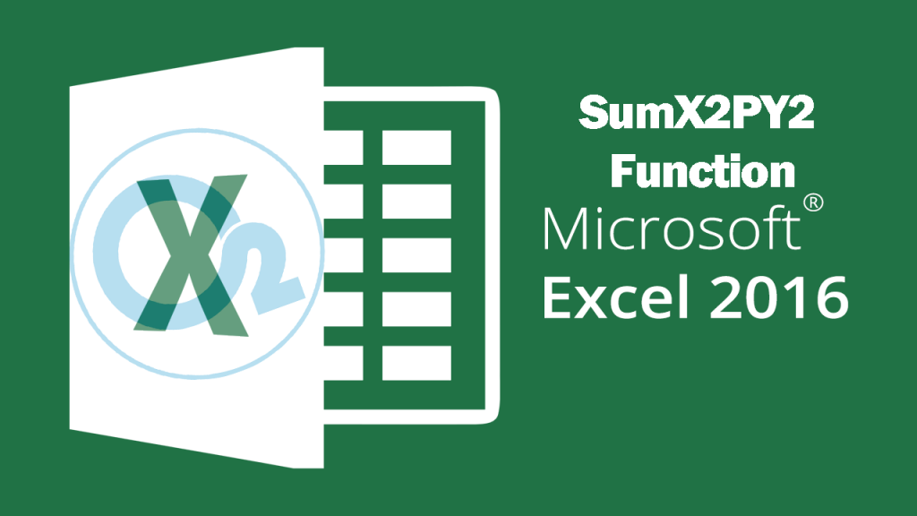 Sumx2py2 Function On Excel