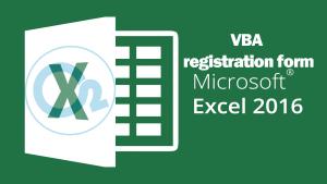 آموزش VBA – ساخت فرم عضویت و ثبت نام در اکسل – جلسه چهارم