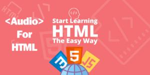 آموزش تگ Audio در HTML