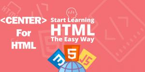 آموزش تگ Center در HTML