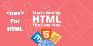 آموزش تگ nav در HTML