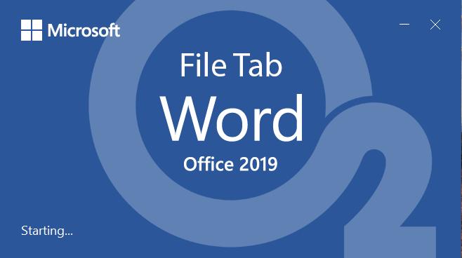 Word 2019 File Tab