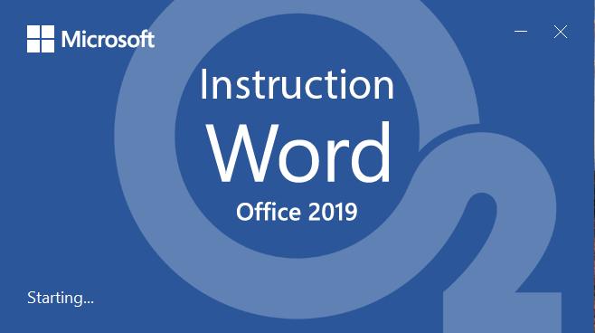 Word 2019 Instruction