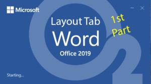 آموزش Word – جلسه هفتم – سربرگ Layout – بخش اول